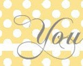 Premade Etsy Banner in Yellow, Gray, and White -- Choose from 5 Different Designs