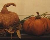 Primitive Folk Art  Fall Pumpkin Pattern