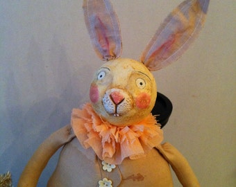 Primitive Folk Art Buny Rabbit Pattern