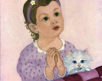 Grace little girl praying 8x10 print