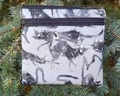 Ghastlie iPhone purse with shoulder strap option, clutch, wristlet, hipster bag, waist pack, Sebastian Ghastlie, The Squirrel