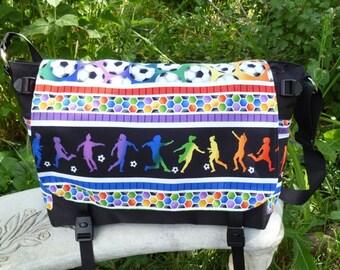 Girls Soccer Messenger Bag, Diaper Bag, Project Bag, Lynx Deluxe