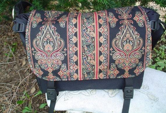 Indian Scroll Messenger Bag, project bag, diaper bag, The Zelda