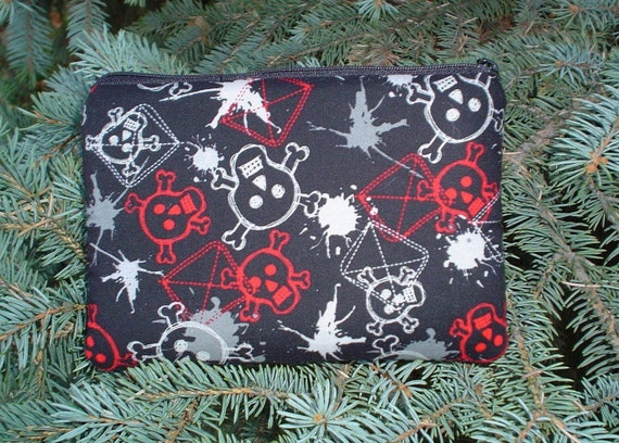 Nintendo DS and DS Lite Padded case with game card pockets, Graffiti Skulls, The Gamer