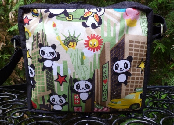 Kawaii cross body bag, hipster bag,small shoulder bag, super panda, The Otter