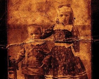 Creepy Little Children no 1 - Open Edition 7 x 5