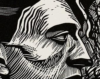 Homage To Duchamp II  Original Relief Print by Ross Zirkle