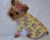 Piggy Dog Pet Flannel Pajamas   Custom Made