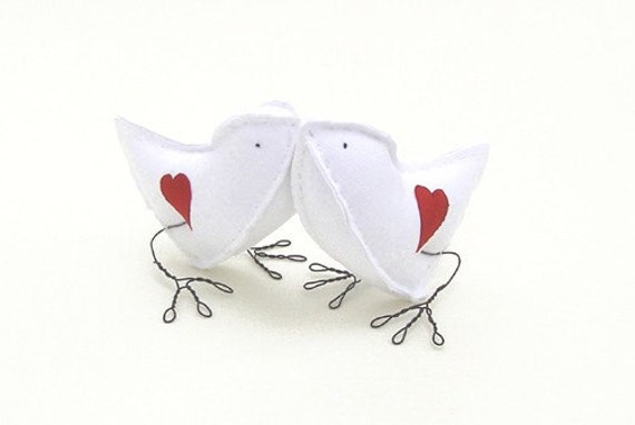Hearts and Kisses Love Birds