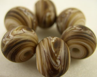 Party Girls - Gold Harvest - Lampwork Beads (6) - Libelula Designs, SRA