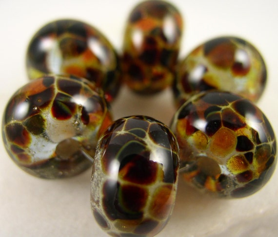 Organic Sedona - Lampwork Beads (6) - Libelula Designs, SRA