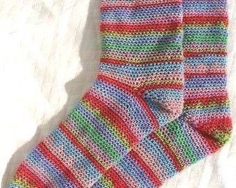Crochet Pattern for SOCKS Colourful 4ply PDF