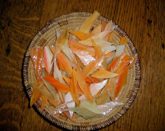 Sunset Orange Glass Shards for Mosaic Art Crafting