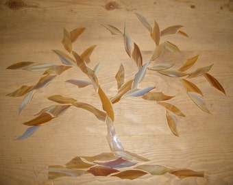 Light Brown Stained Glass Shards for Mosaic Designing