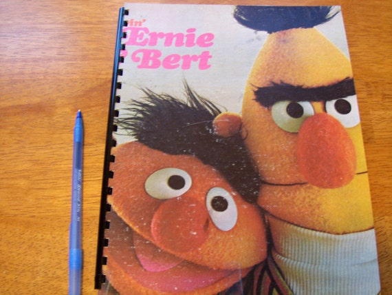 Smash Book - ERNIE and BERT Record Album Sketch Book UPCYCLED