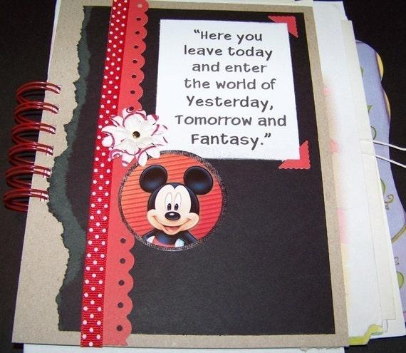 Disney Vacation Mixed Paper Art Journal Scrapbook Sketchbook Autograph Book
