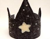 Star Light, Star Bright   -  Grey Wool Felt  Crown