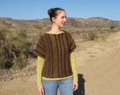 Knitting Pattern in pdf - Louise short-sleeved sweater, knit sideways