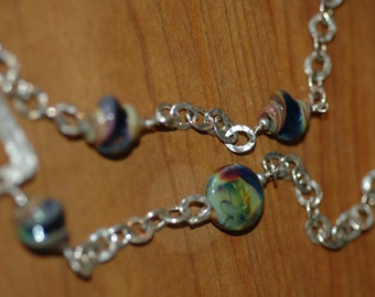 Lampwork Raku Necklace