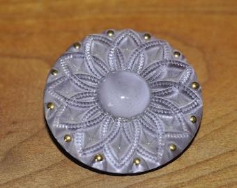 Large Lavender Vintage Button