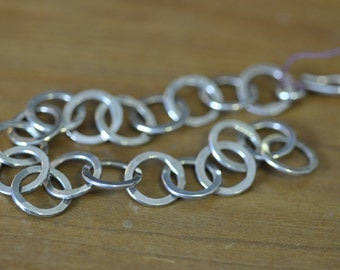 Sterling Silver Hand Forged Circle Bracelet