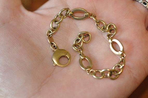 reserved for annette  Vintage 14K Yellow Gold Bracelet