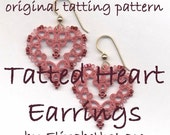 Original Tatting Pattern - Heart Earrings