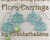 Original Tatting Pattern - Flora Earrings