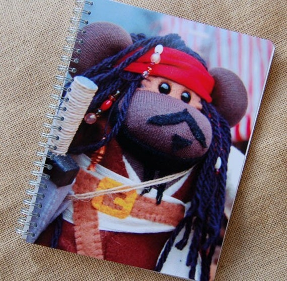 Pirate Sock Monkey Notebook Journal