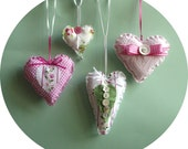 Hanging hearts hand sewing kit