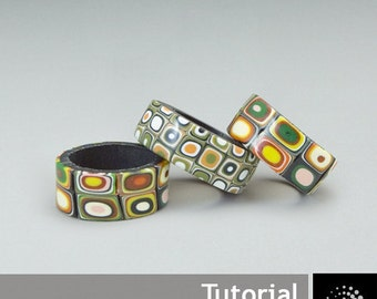 "Polymer Clay PDF Tutorial ""Simple Retro Style Ring"""