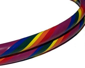 Vinyl Rainbow Hula Hoop - Beginners Collapsible Infinity Hula Hoop - Great for Travel
