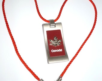 Canada Day Necklace  July 1st    Maple Leaf  Pendant       Canada Necklace