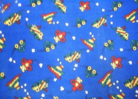 boats planes cars trucks Boy print corduroy fabric