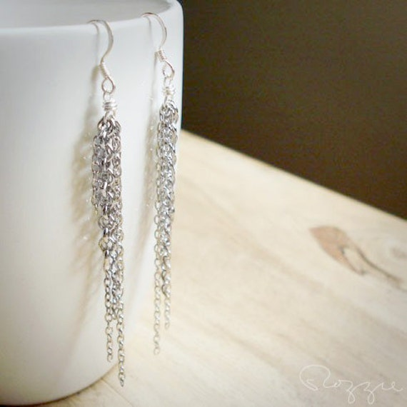 Chain Chain Rockin Earrings - Silver Long Dangle