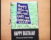 Happy Birthday Zine: Birthday Banners Signs Mini Photo Zine Photographs Small Book