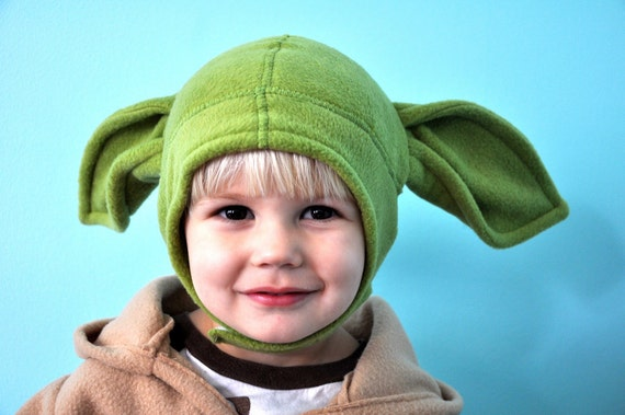 YODA inspired costume and hat-up to size 5t 5/6
