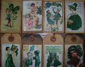 E) pRiM ViNtAgE St. Patrck's Day PoStCaRd iMaGeS Hang Tags