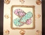 Watercolor, original, Flip Flops, MY FAVORITES