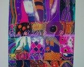 Silk Painting Print, Original Designs