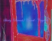 Silk Painting Print, Original Architectural Design