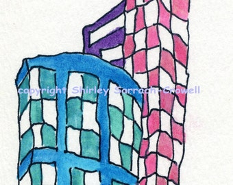 Watercolor Print from Original Architectural Fantasy Painting