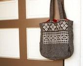Gray Hand Woven Antique Bag