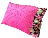 Hot Pink Minky Pillow Case or Design your Own by Mod Baby