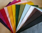 Felt fabric sheets 20 pieces recycled