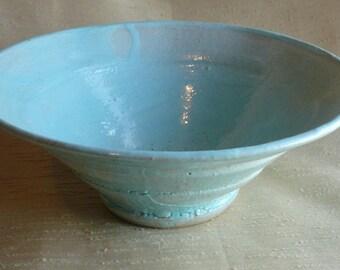 light blue ceramic bowl