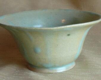 elegant aqua ceramic bowl