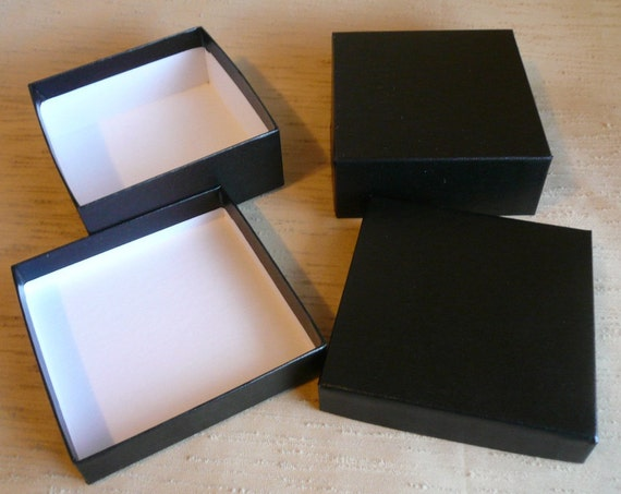Jewelry gift boxes black bracelet 12 pieces recycled