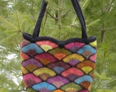 Felted Stained Glass Fan Bag Pattern  (knit)