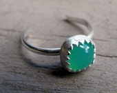 Etsy Chrysoprase and Sterling Silver Toe Ring